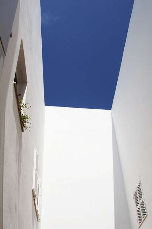 Architecture Menorca White Wall Window Sky Blue