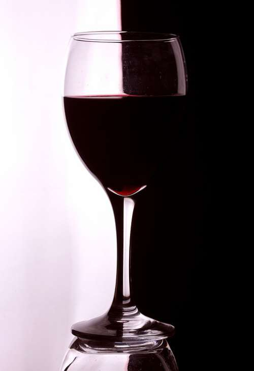 Artistic Wine Glass Red Pattern Creative Simple