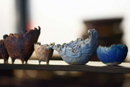 Asia Hand Labor Shell Bowls Ceramic Design Asian