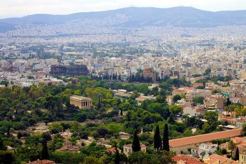 Athens Greece Street Landscape Culture Ancient