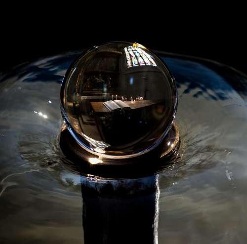 Ball Composing Mood Water Fountain Hymnal Church