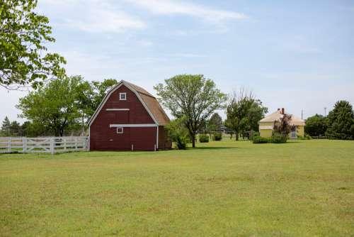 Barn Kansas Farm Farming Agriculture Rural Grass