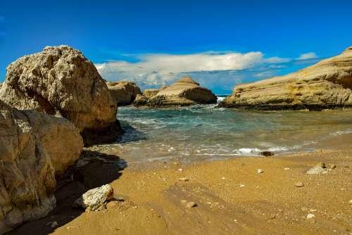 Beach Sand Rocks Sea Nature Coast Travel Sky