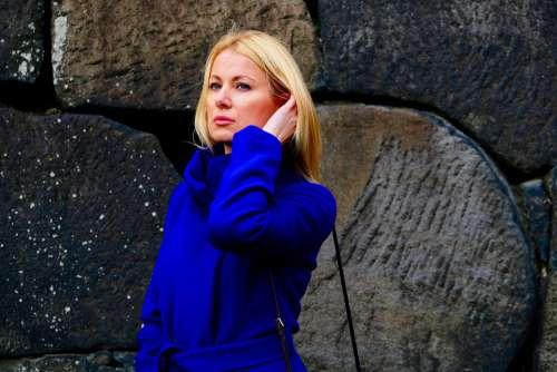 Beautiful Woman Portrait Blond Hair Model