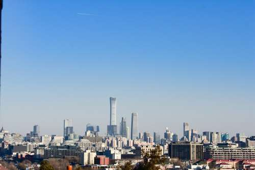 Beijing Skyline City Tall Buildings Eon