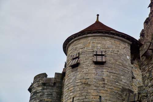 Belgium Gent Gravensteen Castle Middle Ages Tower