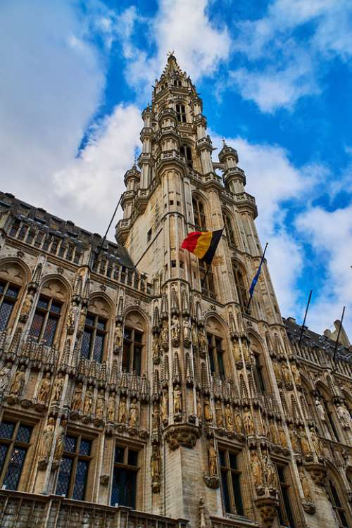 Belgium Brussels Grand Place Town Hall Architecture