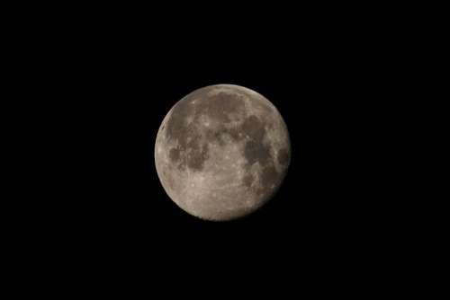 Blue Moon Pahrump Moon Southwest Night Sky