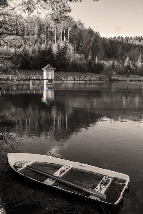 Boat Lake Waterpolo Sepia Nature Calm