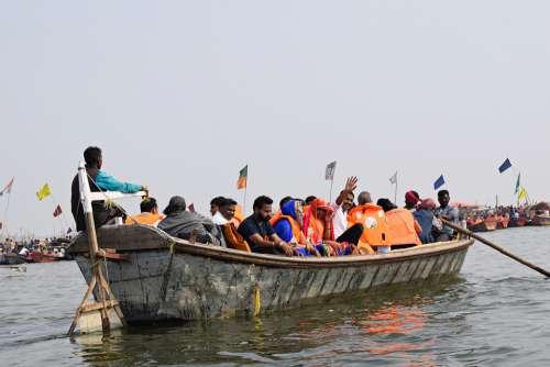 Boat Ganges River India Ghat Water Ganga Hindu