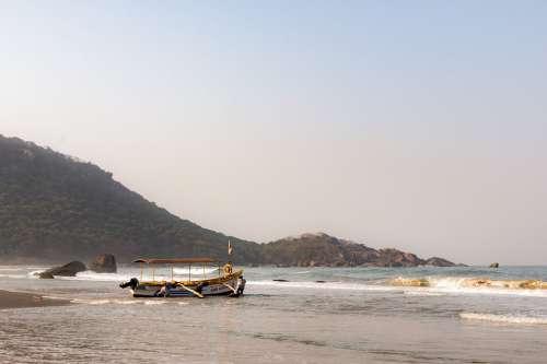 Boat Ocean Goa India Sea Landscape Water Fishing