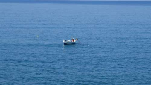 Boat Sea Landscape Water Quiet Reflection Summer