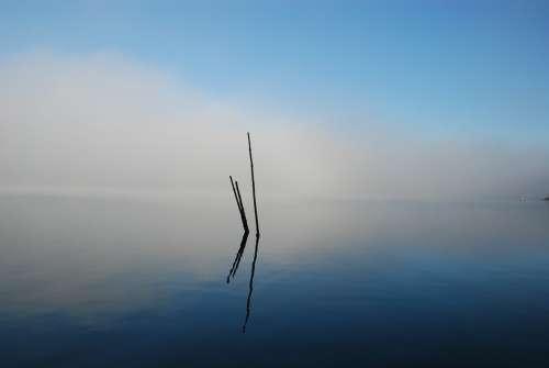 Bohuslän Fjord Sea The Fog Lightens Water Coastal