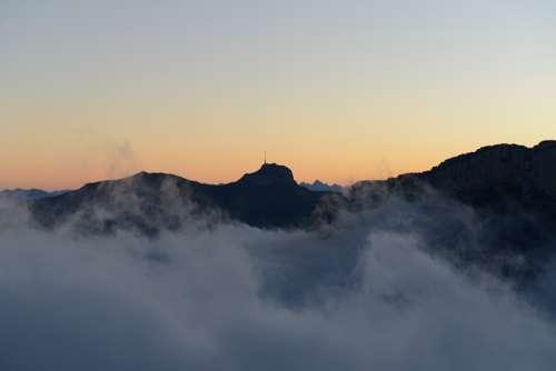 Box Alpstein Mountains Fog Appenzell Alpine