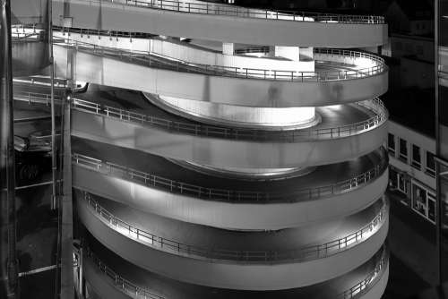 Braunschweig Multi Storey Car Park Night Photograph