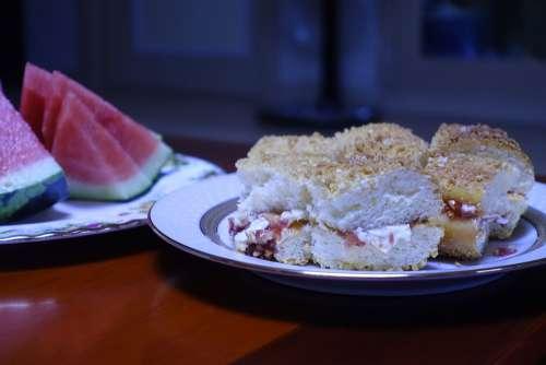 Bread Watermelon Food Delicious