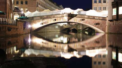 Bridge Architecture River Travel Night Tourism