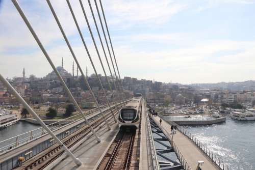 Bridge Subway Transportation Ray Rail Istanbul