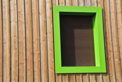 Building Window Structure Wood Green Facade