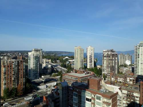 Buildings City Blue Sky Architecture Vancouver