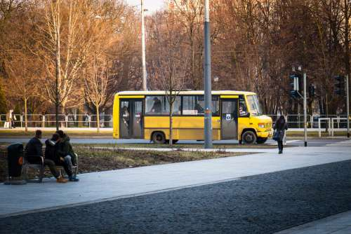 Bus Yellow Life Urban Vehicle Transport City