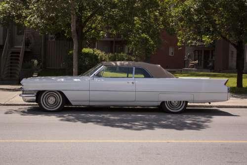 Cadillac Coupe De Ville Old Classic Usa Vintage