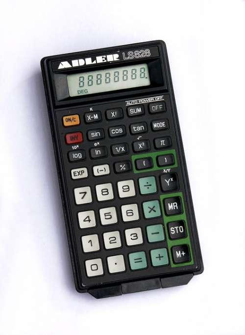 Calculator Retro Old Count School Knowledge