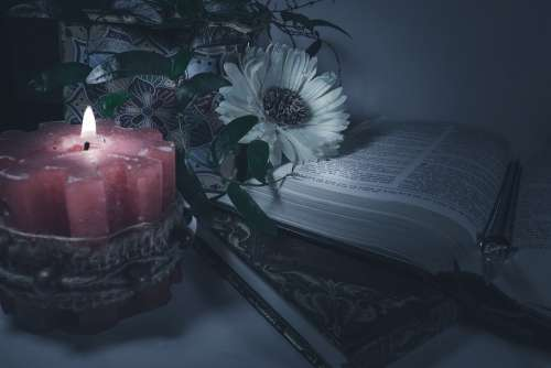 Candle Dark Books Gothic Romantic Flame Mystery