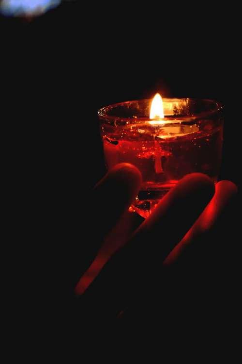 Candles Dark West Night Silk Light