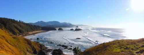 Cannon Beach Pacific Ocean Ecola Oregon Ocean