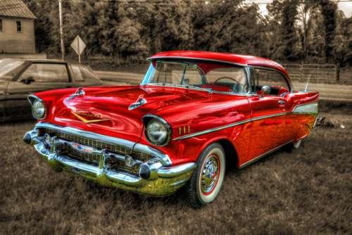 Car Antique Collectible Vintage Red Retro Old