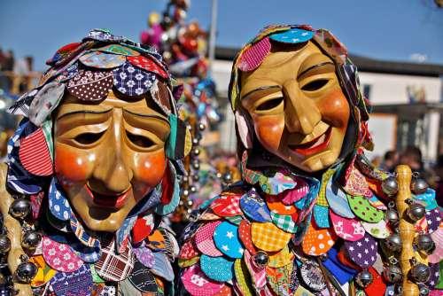 Carnival Parade Fasnet Swabian Alemannic Wooden Mask