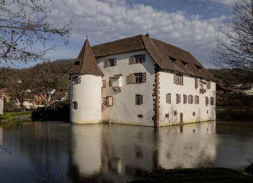 Castle Inzlingen Middle Ages Fantasy Landscape Old