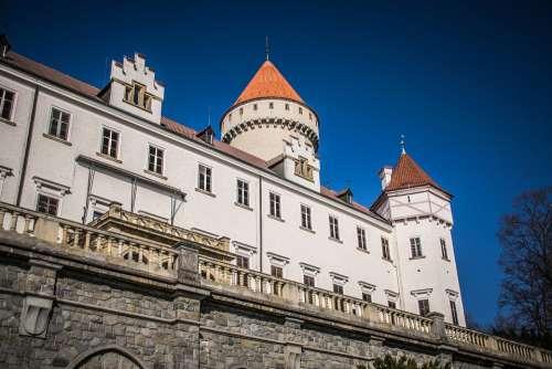 Castle History Architecture Towers Czech Republic