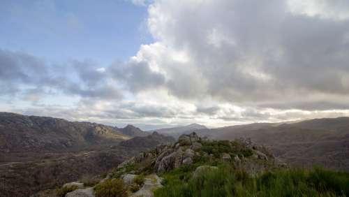 Castro Laboreiro Portugal Melgaco Mountain Sky