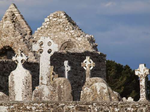 Cemetery Ireland Cross Grave Tombstone Graves