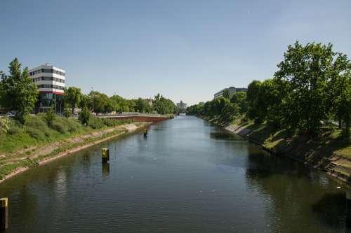 Channel Water Urban Berlin Cityscape Architecture