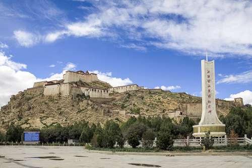 China Autonomous Region Of Tibet The Monastery Castle