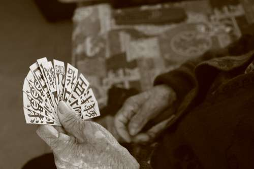 Chinese Cards Playing Cards Traditions Hands Old