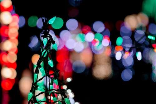 Christmas Lights Color Light Decoration Festive