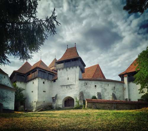 Church Castle Fortified Romania Transylvania