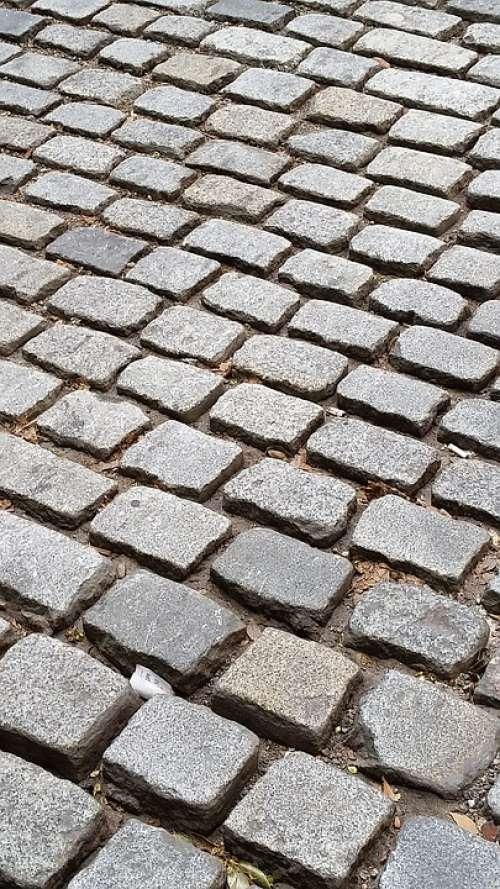 Cobble Stone Street Rocks Bricks Old Stones