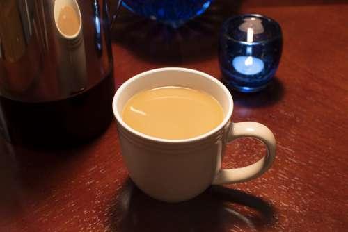 Coffee Coffee Pot Drink Cup Breakfast Table