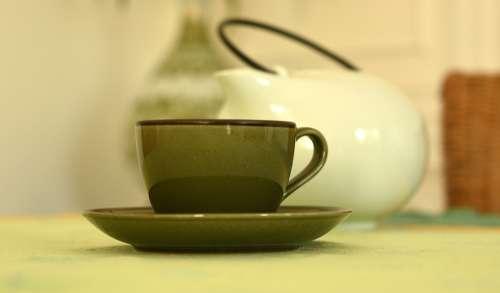 Coffee Cup Tea Cappuccino Table Morning Aroma