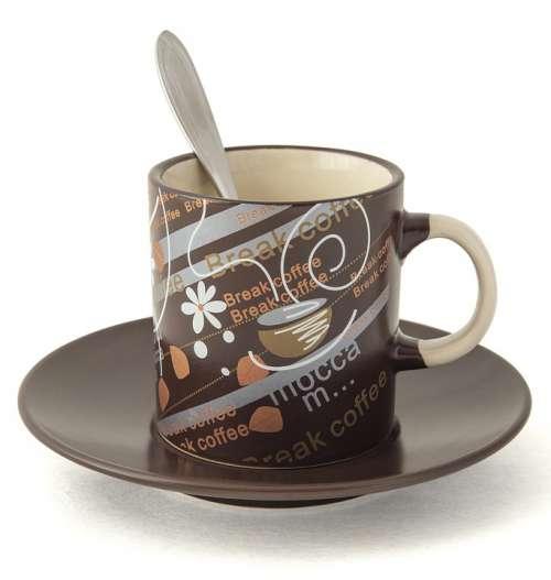 Coffee Break Chocolate Painted Background
