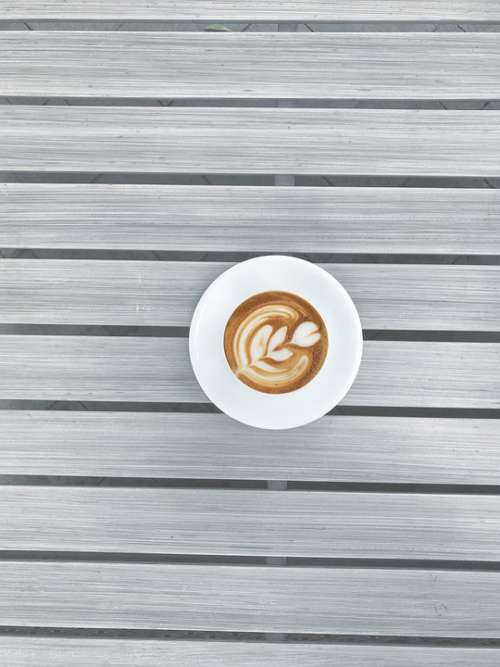 Coffee Coffee Table Morning Cappuccino Table Cup