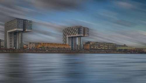 Cologne Crane Homes Motion Blur Long Exposure