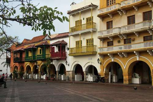 Colonial Architecture Colombia Spanish Cartagena
