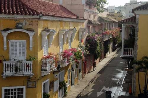 Colonial Cartagena Colombia Architecture Facade