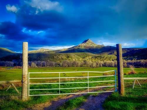 Colorado America Squaw Mountain Sunset Dusk Ranch
